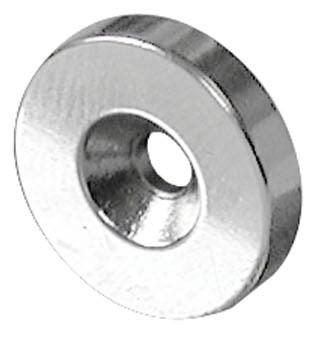 Ringmagnet med forsænket hul Ø20 - Ø37 mm Neodymium