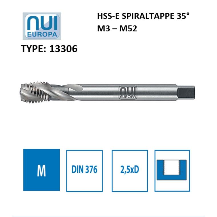 NUI Spiraltappe HSSE M3 - M52