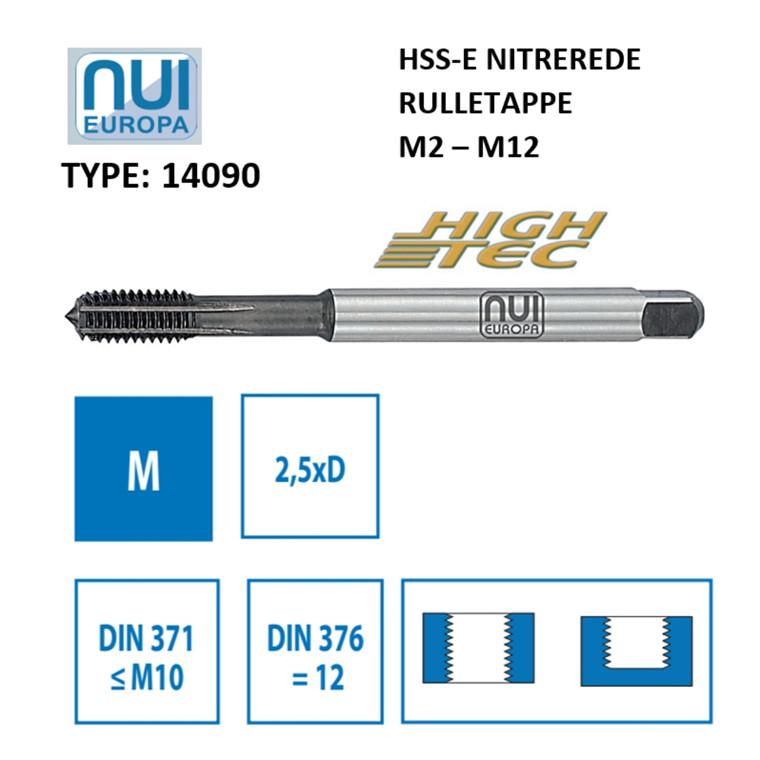 NUI Rulletappe HSSE M2 - M12 Nitrerede