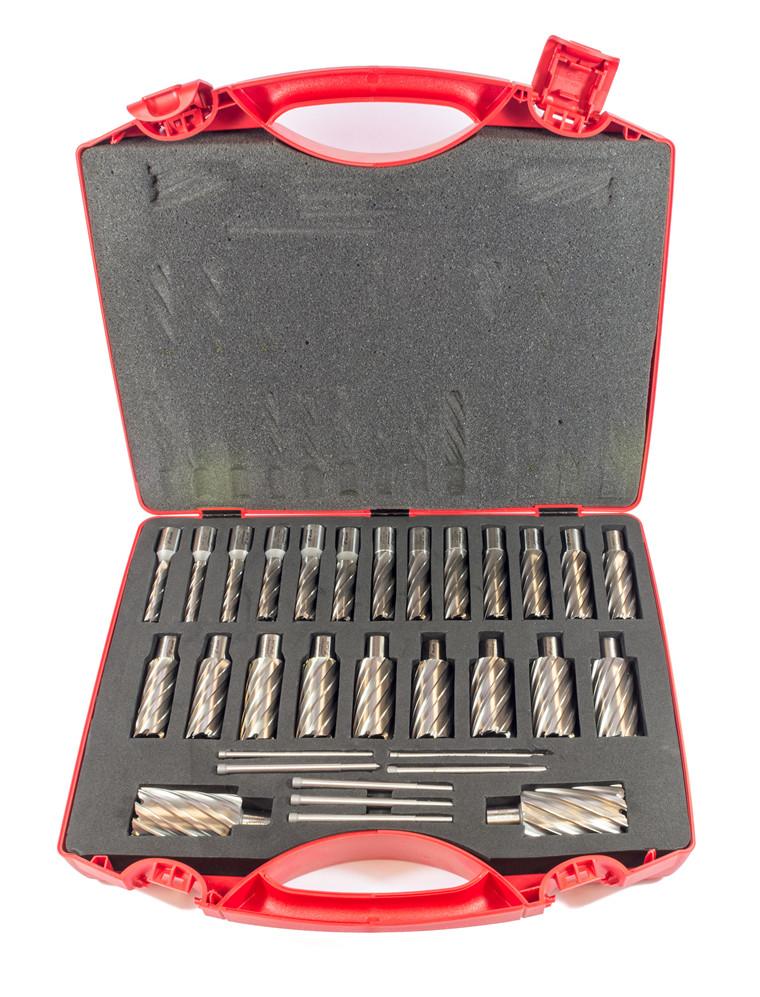 HM kernebor i sæt fra 14-35 mm Inkl. 7 stk. centerstifter