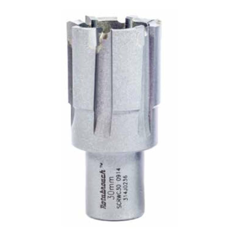 Hårdmetal kernebor til HARDOX kort 30 mm skæredybde RAPTOR CTCT