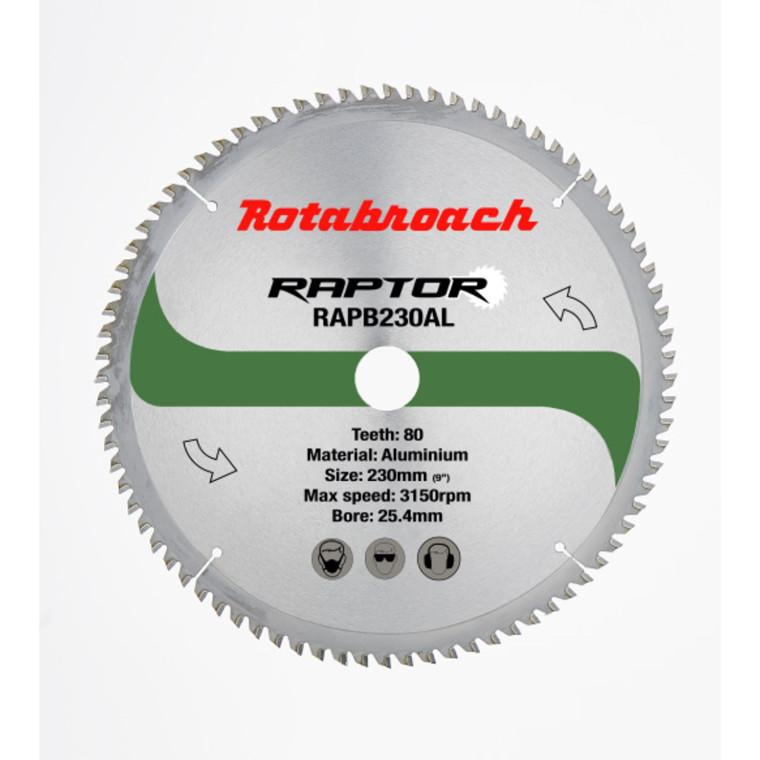 Rotabroach HM klinge 230x25,4 Z80 Alu