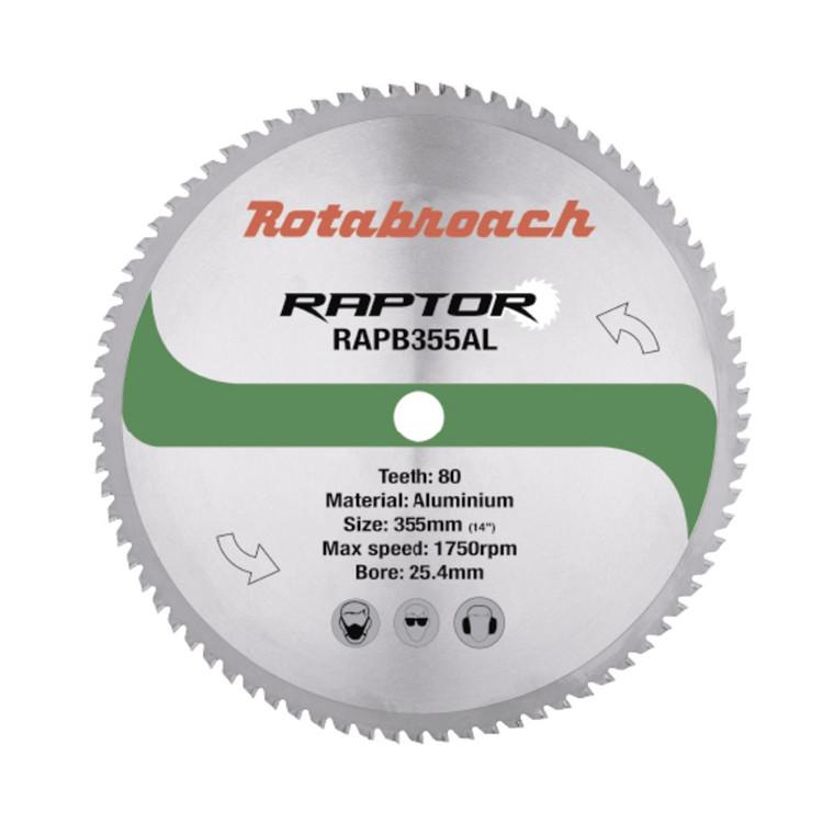 Rotabroach RAPTOR HM klinge 355x25,4 Z80 til aluminium
