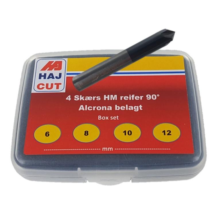 HAJ CUT 4 skærs HM Reifersæt 90° ø6, ø8, ø10, ø12  Alcrona belægning