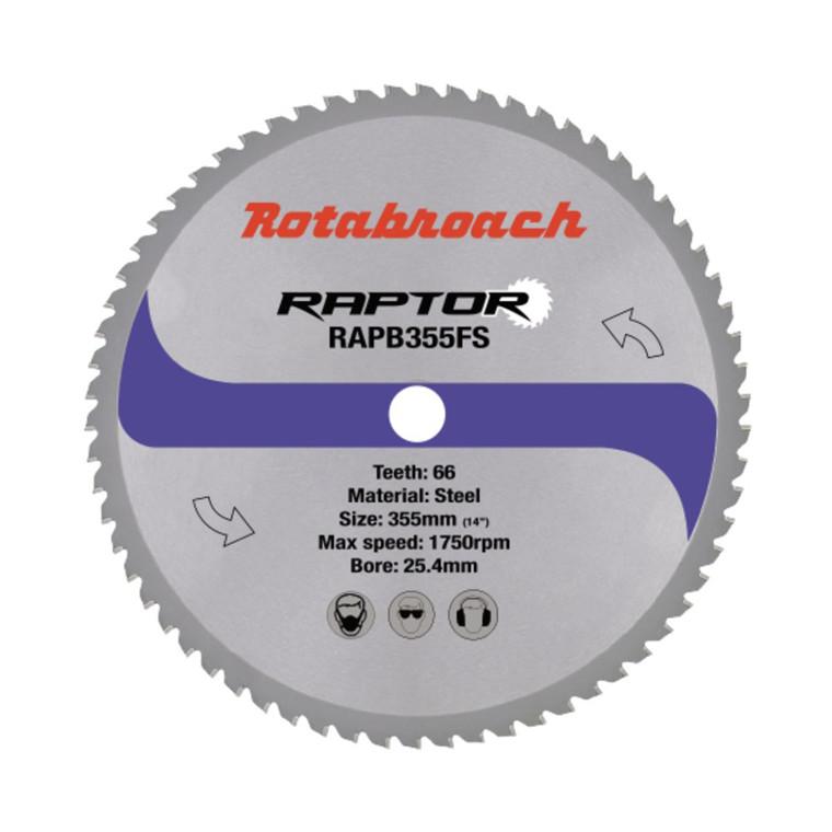 Rotabroach RAPTOR HM klinge 355x25,4 Z36 til stål