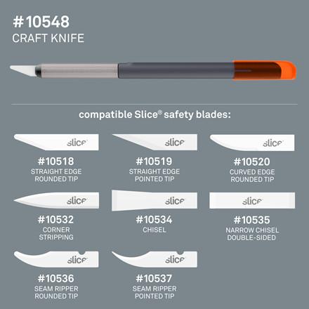 Slice® Præcisionskniv 10548 Inkl.bladnr 10518   fixed blade Udskif.blad