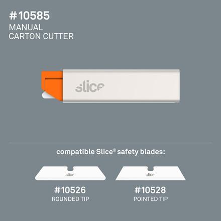 Slice® Kartonkniv med metalkappe 10585 Inkl.bladnr. 10526 Udskifteligt blad