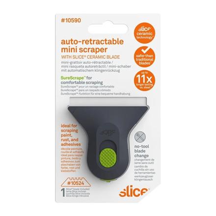 Slice® Mini Skraber med auto-tilbageføring 10590 Inkl.bladnr 10524 Rund spids Udskif.blad