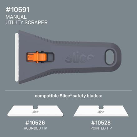 Slice® Skraber manuel 10591 Inkl.bladnr 10526   fixed blade Udskif.blad