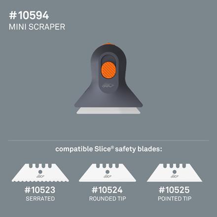 Slice® Manuel Mini Skraber 10594 Inkl.bladnr 10524 (Rounded tip)    Udskif.blad