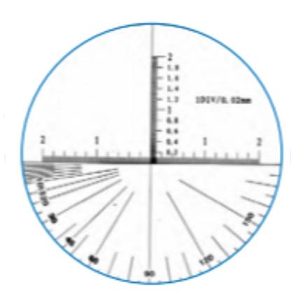 MIB Præcisions rør mikroskop m/skala & lys 26X forstørrelse, aflæsning 0,01 mm
