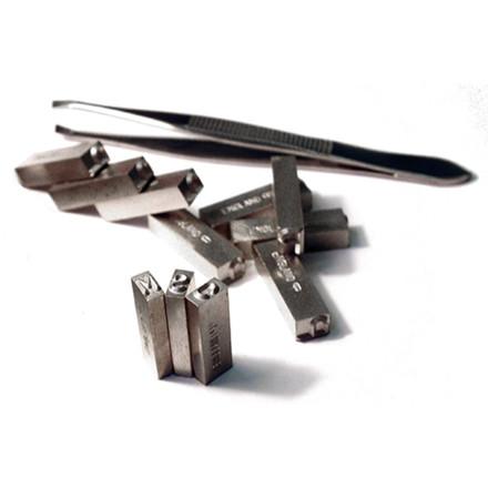 Pryor stempel til holder 2,5 mm A-Å 0-9 &/-.,