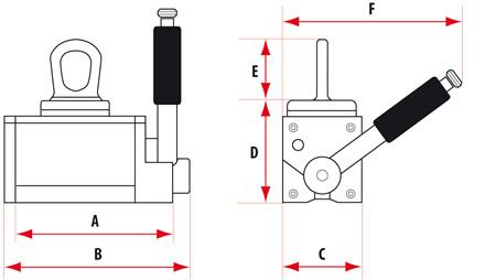 Ekstra sikre Løftemagneter Løfteevne 125 - 2000 kg