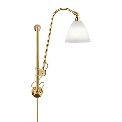 Bestlite BL5 Væglampe Ø16 Messing/Porcelæn - GUBI
