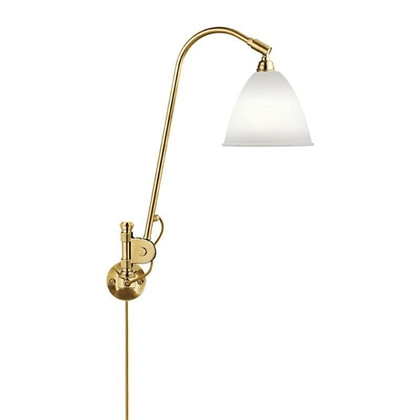 Bestlite BL6 Væglampe Ø16 Messing/Porcelæn - GUBI
