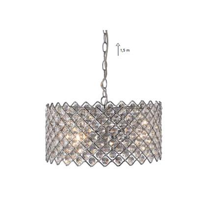 Lindö Pendel Lampe Stor - Krom fra Markslöjd