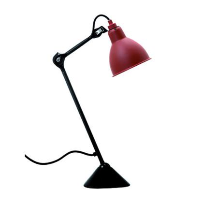 Lampe Gras 205 Bordlampe Sort-Rød fra DCW Éditions