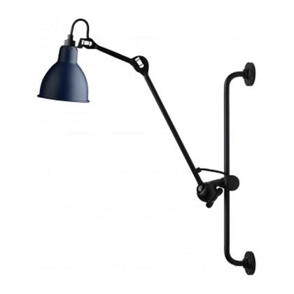 210 Væglampe Blå/Sort - Lampe Gras