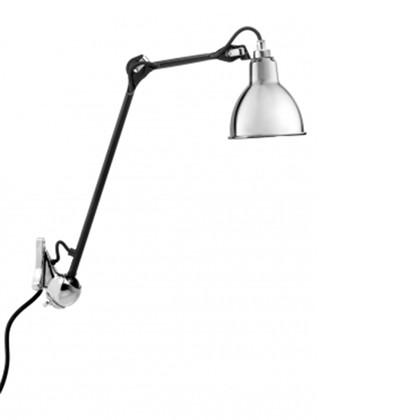 222 Væglampe Krom/Sort - Lampe Gras