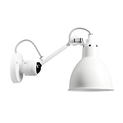 304 Væglampe Hvid/Hvid - Lampe Gras