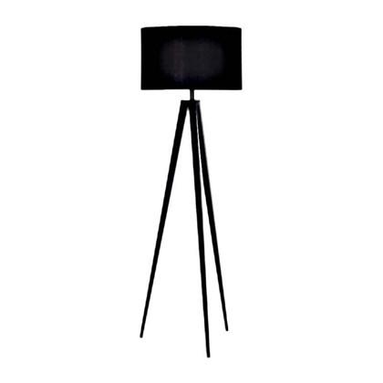 Paso Gulvlampe Sort med sort skærm - Darø