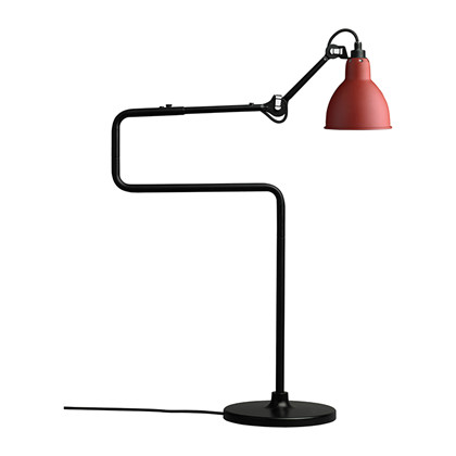 Lampe Gras 317 Bordlampe Sort - Rød - DCW Éditions