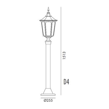Cardinal Bedlampe Model D4 fra Noral