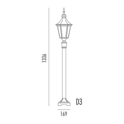 Regent Bedlampe Model D3 fra Noral