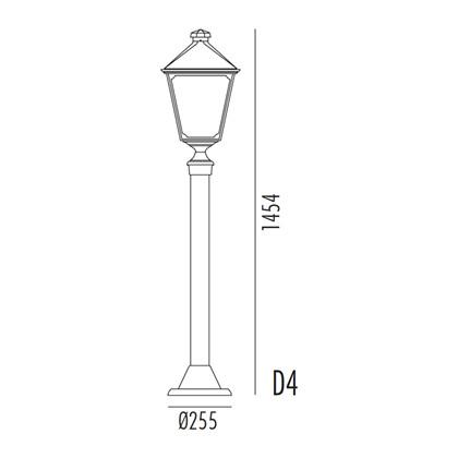 Classic Bedlampe Model D4 fra Noral