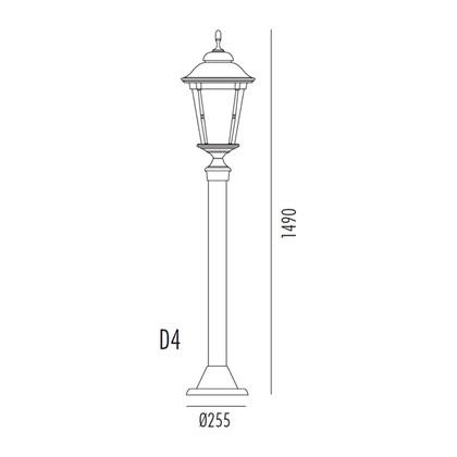 Park Bedlampe Model D4 fra Noral