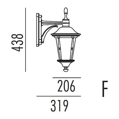 Princess Udendørs Væglampe Model F fra Noral