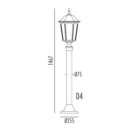Plaza Bedlampe Model D4 fra Noral