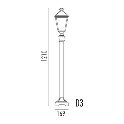 Torino Bedlampe D3 fra Noral