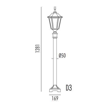 Allegro Bedlampe Model D3 fra Noral