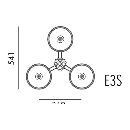 Roulette II Stolpelampe Model ES3 fra Noral