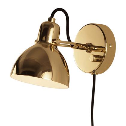Focus Mini Væglampe - Messing fra Seeddesign