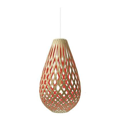 Koura Red pendel Lampe fra David Trubridge