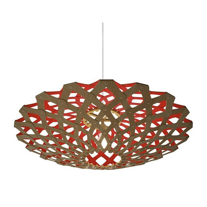 Flax Red pendel Lampe fra David Trubridge