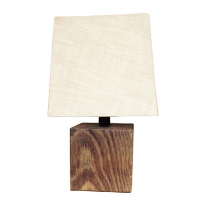 Wood Square Bordlampe - Smoked Eg - KS Lampeskærme