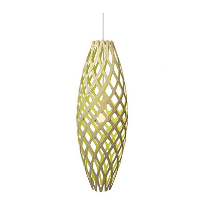 Hinaki Pendel Lime Lampe fra David Trubridge