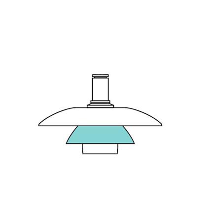 PH 4½-4 Glas Pendel Mellemskærm - Louis Poulsen