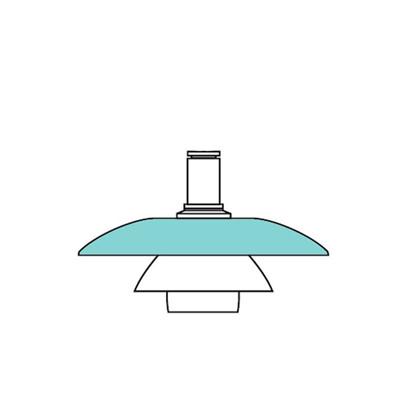 PH 4½-4 Glas Pendel Overskærm - Louis Poulsen