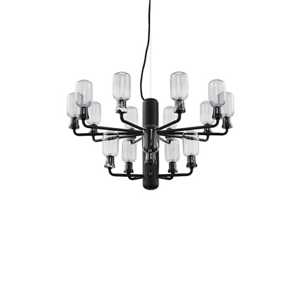 Amp Chandelier Small Smoke/Black - Normann Copenhagen