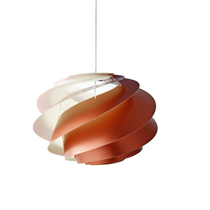 Swirl CP1 Kobber Pendel Lampe - medium - Le Klint