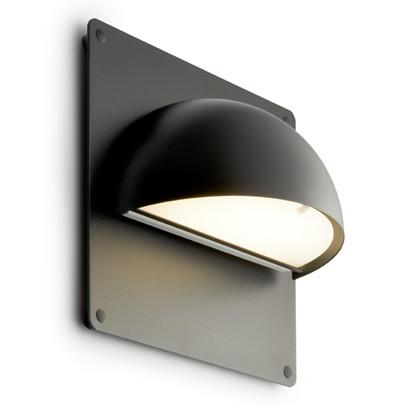 Rørhat Udendørs Væglampe Sort med bagplade - Light-Point