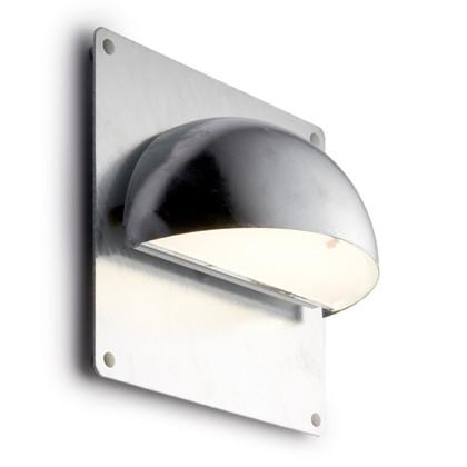 Rørhat Udendørs Væglampe Galvaniseret med bagplade - Light-Point
