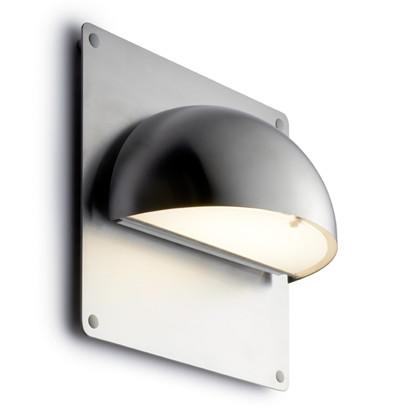 Rørhat Udendørs Væglampe Rustfrit Stål med bagplade - Light-Point
