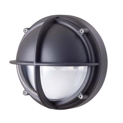 Skot LED Væglampe - Halvafskærmet Klart Glas