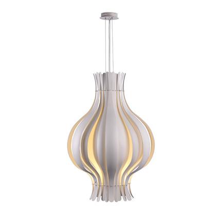Onion Hvid Pendel lampe Stor design Verner Panton