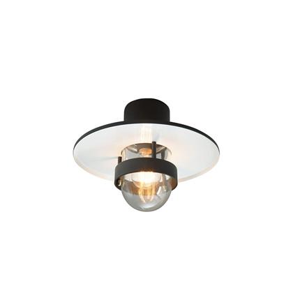 Bergen Udendørs Loftlampe Sort - Norlys